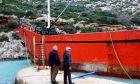 Προσάραξη φορτηγού πλοίου - Φωτογραφία αρχείου