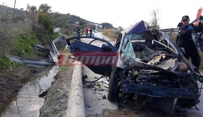 Τραγωδία στην Πάτρα: Δύο νεκροί και δύο τραυματίες σε τροχαίο