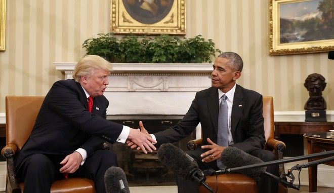 O Ντόναλντ Τραμπ και o Μπάρακ Ομπάμα