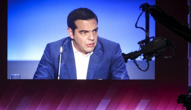 Φωτό αρχείου: Συνέντευξη του Πρωθυπουργού Αλέξη Τσίπρα.