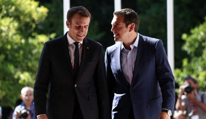 Φωτογραφία από την επίσκεψη του Γάλλου προέδρου στην Αθήνα, τον Σεπτέμβριο του 2017
