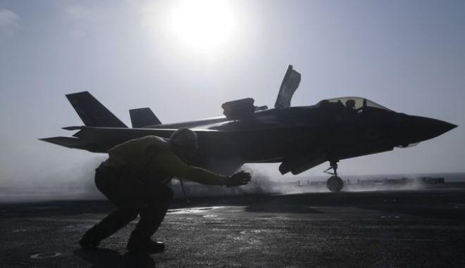 Απογείωση μαχητικού F-35B - Φωτό αρχείου