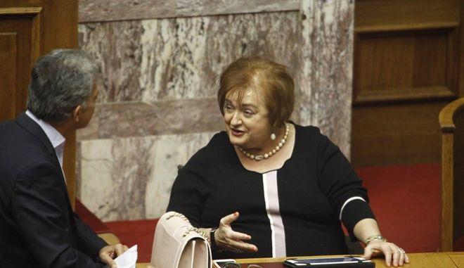 Συζήτηση προ Ημερησίας Διατάξεως στην Ολομέλεια της Βουλής, με πρωτοβουλία του αρχηγού της αξιωματικής αντιπολίτευσης και Προέδρου της Κοινοβουλευτικής Ομάδας της Νέας Δημοκρατίας Κυριάκου Μητσοτάκη, σε επίπεδο αρχηγών κομμάτων, σχετικά με την Παιδεία, την Τετάρτη 28 Σεπτεμβρίου 2016. (EUROKINISSI/ΓΙΩΡΓΟΣ ΚΟΝΤΑΡΙΝΗΣ)