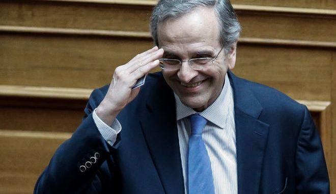 Ο Αντώνης Σαμαράς στην ψηφοφορία για την διεύρυνση του κατηγορητηρίου για τον Δ.Παπαγγελόπουλο