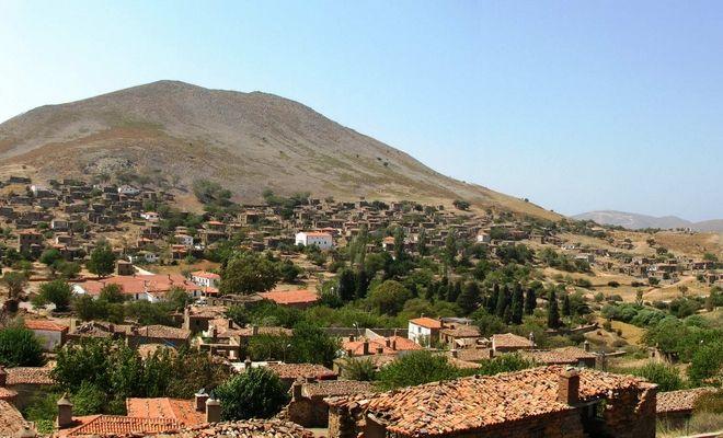 Πανοραμική άποψη του χωριού Σχοινούδι, Ίμβρος