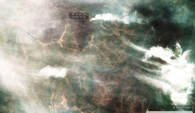 Οι φωτιές της Σιβηρίας από το διάστημα