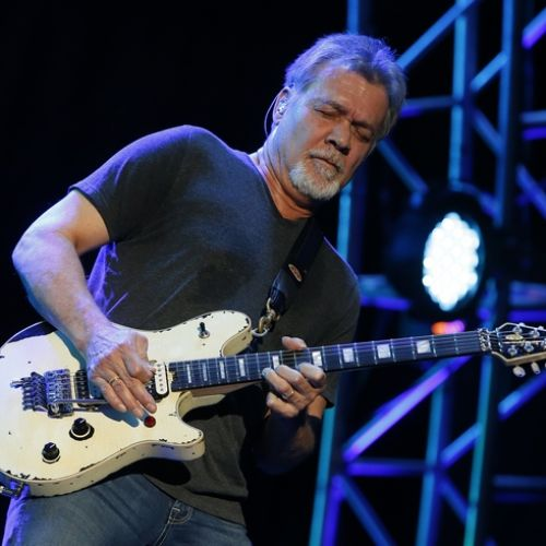 Eddie Van Halen is seen at Ak-Chin Pavillion on Monday, September 28, 2015, in Phoenix, Arizona. (Photo by Rick Scuteri/Invision/AP)