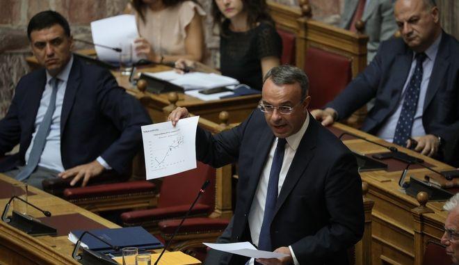 Ο υπουργός Οικονομικών, Χρ. Σταϊκούρας