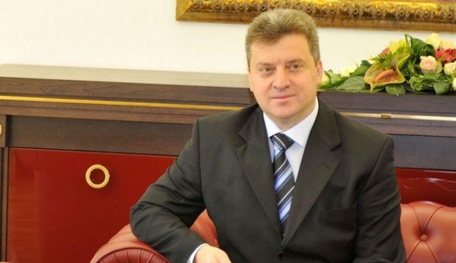 O πρόεδρος των Σκοπίων Γκιόργκι Ιβάνοφ