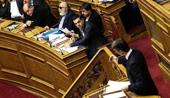 """Conversation over Government's """"parallel programme"""" in Plenary. Athens on 20 Feb 2016./    ,            «         »  ,  20  2016."""