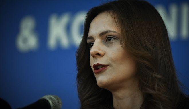 Η Υπουργός Εργασίας Εφη Αχτσίογλου