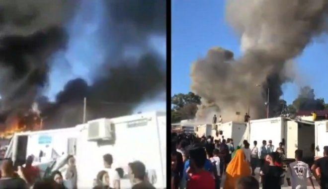 Μόρια: Θολό το πώς άρχισε η φωτιά - Τα βίντεο ντοκουμέντο