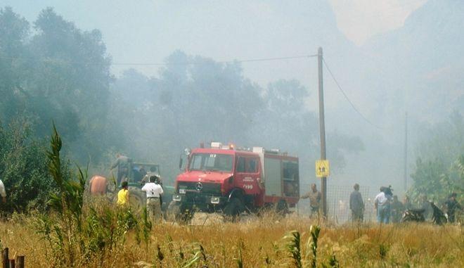 Πυρκαγιά στην περιοχή Μάλες Λασιθίου
