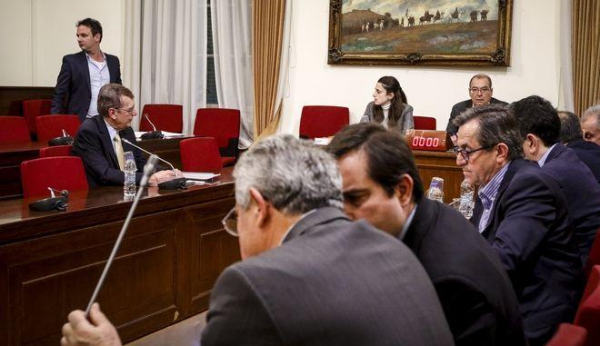 Συνεδρίαση της Εξεταστικής Επιτροπής για τη διερεύνηση σκανδάλων στο χώρο της Υγείας κατά τα έτη 1997 - 2014 την Τετάρτη 14 Μαρτίου 2018. (EUROKINISSI/ΓΙΩΡΓΟΣ ΚΟΝΤΑΡΙΝΗΣ)