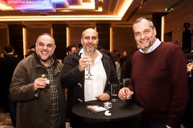 Από αριστερά: Κώστας Παπαγεωργίου, Σπύρος Καβαλιεράτος, Δημήτρης Κωνσταντινίδης