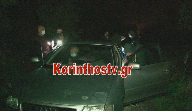 Καρέ από το σημείο όπου βρέθηκε το αυτοκίνητο του 61χρονου γιατρού