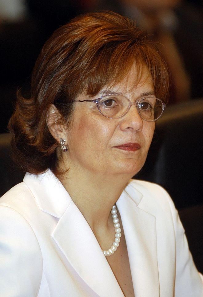 Η νέα υπουργός Πολιτισμού και πρώην ευρωβουλευτής του ΠΑΣΟΚ Μυρσίνη Ζορμπά