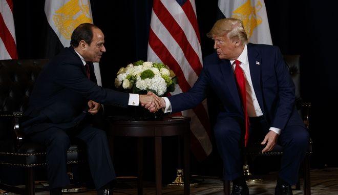 Ο Ντόναλντ Τραμπ και ο Άμπντελ Φατάχ Αλ Σίσι