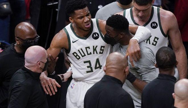 NBA: Πάγωσε ο χρόνος με τον τραυματισμό του Αντετοκούνμπο