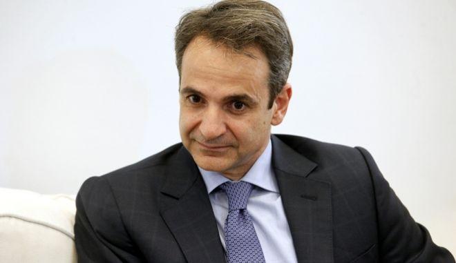 ΑΘΗΝΑ-Ο πρόεδρος της Νέας Δημοκρατίας Κυριάκος Μητσοτάκης συναντήθηκε με τον ευρωπαίο επίτροπο Δημήτρη Αβραμόπουλο.(EUROKINISSI-ΚΟΝΤΑΡΙΝΗΣ ΓΙΩΡΓΟΣ)