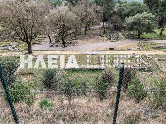 Κρόνιος Λόφος: Κατολισθήσεις απειλούν τον αρχαιολογικό χώρο της Ολυμπίας