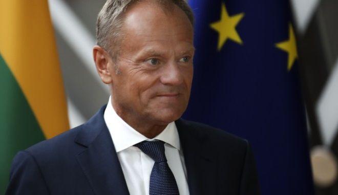 O πρόεδρος του Ευρωπαϊκού Συμβουλίου Ντόναλντ Τουσκ