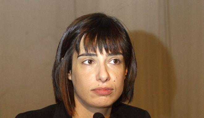 Η εκπρόσωπος Τύπου του ΣΥΡΙΖΑ, Ράνια Σβίγκου