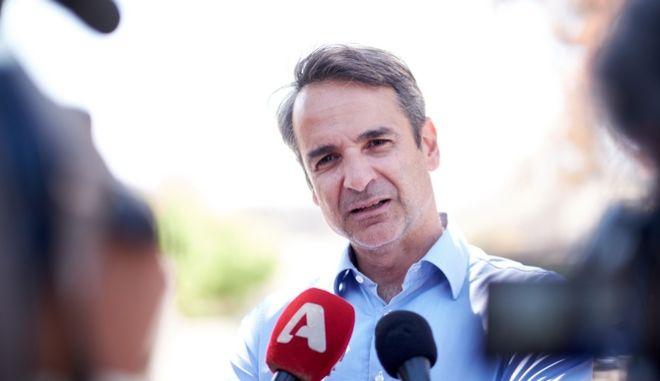 Ο Πρόεδρος της Νέας Δημοκρατίας, Κυριάκος Μητσοτάκης.