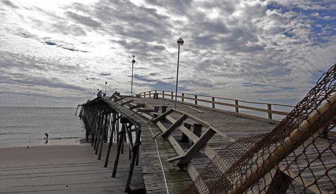 Εικόνα από τη Βόρεια Καρολίνα μετά το πέρασμα του τυφώνα Ντόριαν