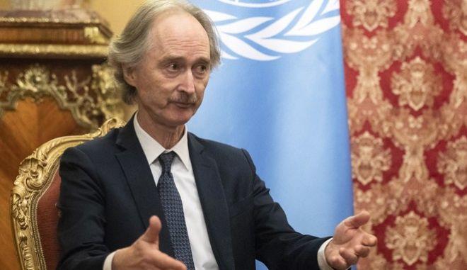 Ο απεσταλμένος του ΟΗΕ στη Συρία, Γκέιρ Πέντερσεν