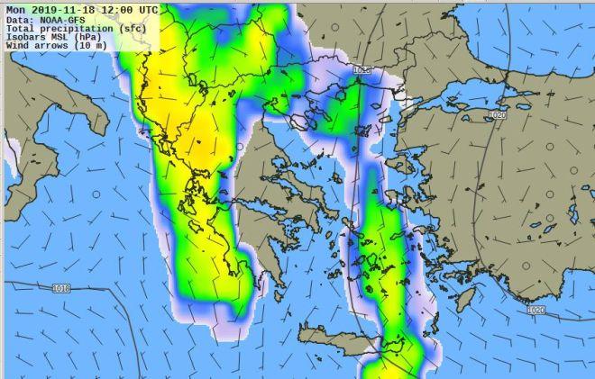 Καιρός: Βροχές διαρκείας ως την Τετάρτη