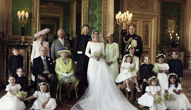 Οικογενειακή φωτογραφία από το γάμο Χάρι - Μέγκαν
