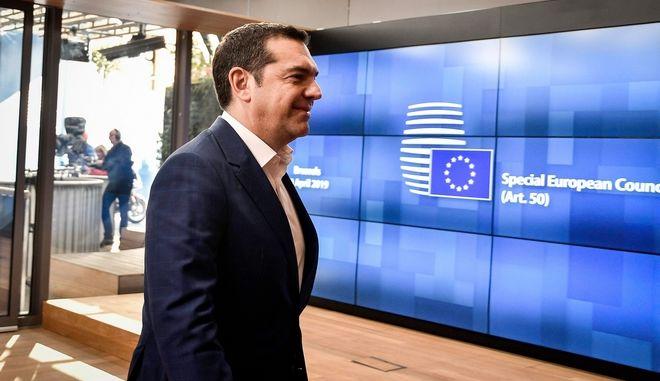 Ο Πρωθυπουργός Αλέξης Τσίπρας σε εργασίες της Συνόδου Κορυφής