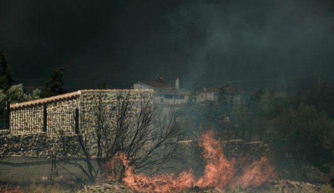 Φωτιά στην Κερατέα