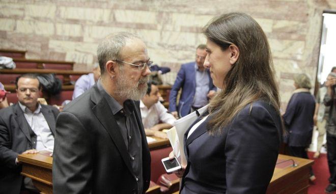 Συνεδρίαση της Κοινοβουλευτικής Ομάδας του ΣΥΡΙΖΑ, την Τετάρτη 15 Ιουλίου 2015, στην Βουλή. (EUROKINISSI/ΓΙΩΡΓΟΣ ΚΟΝΤΑΡΙΝΗΣ)