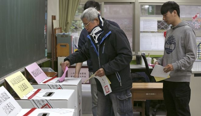 Ταϊβάν: Άνοιξαν οι κάλπες για τις προεδρικές εκλογές