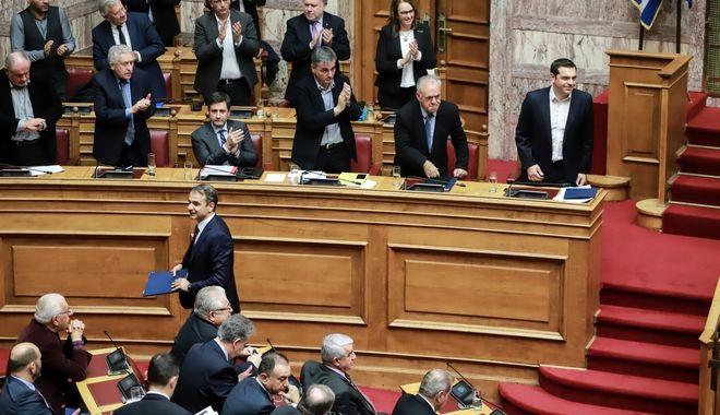 Τελευταία ημέρα συζήτησης και ψήφιση,σήμερα στην ολομέλεια της βουλής,για τον προυπολογισμό του 2019, Τρίτη 18 δεκεμβρίου 2018  (EUROKINISSI/ΓΙΩΡΓΟΣ ΚΟΝΤΑΡΙΝΗΣ)