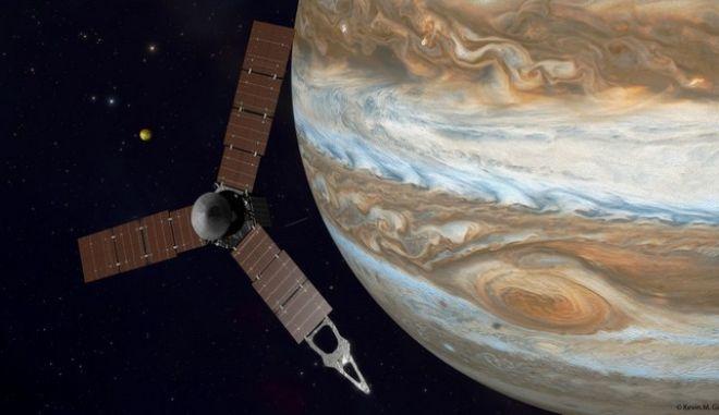 Ιστορική αποστολή: Σε τροχιά γύρω από τον Δία θα τεθεί το σκάφος Juno