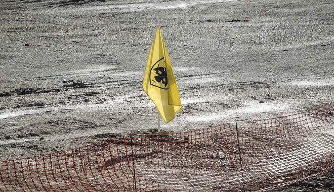 Φωτογραφία από το εργοτάξιο του γηπέδου της ΑΕΚ, στη Νέα Φιλαδέλφεια