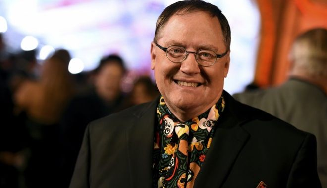 "John Lasseter arrives at the Los Angeles premiere of ""Coco"" at the El Capitan Theatre on Wednesday, Nov. 8, 2017, in Los Angeles. (Photo by Jordan Strauss/Invision/AP)"