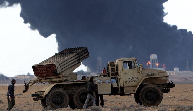 Βομβαρδισμοί στη Λιβύη (φωτογραφία αρχείου)