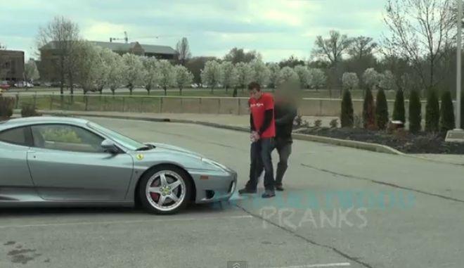 H φάρσα, η Ferrari και ο παραλίγο ξυλοδαρμός