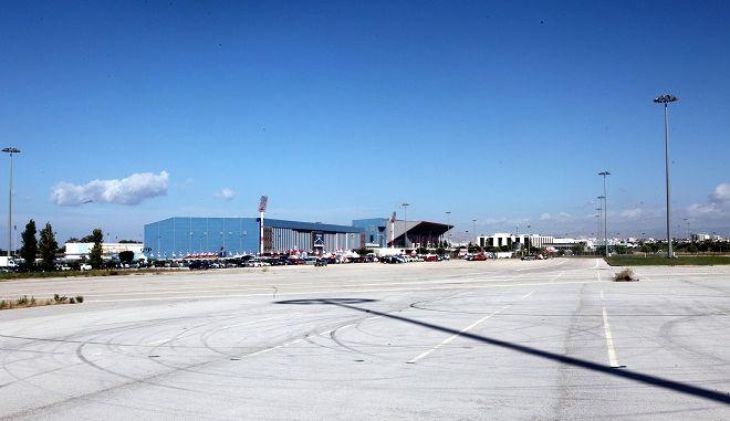 Φωτογραφία από την έκταση του πρώην αεροδρομίου στο Ελληνικό