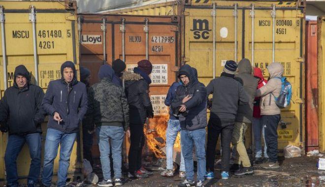 Εικόνα από τη διαμαρτυρία των προσφύγων