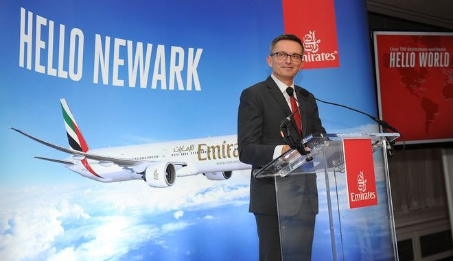 Guests gather at Carnegie Hall on Monday, March 13, 2017, in New York, to celebrate the Emirates' new Newark-Athens-Dubai service.  (Diane Bondareff/AP Images for Emirates Airline)