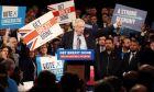 Ο Βρετανός πρωθυπουργός Μπόρις Τζόνσον σε προεκλογική εκδήλωση στο Μπέρμιγχαμ