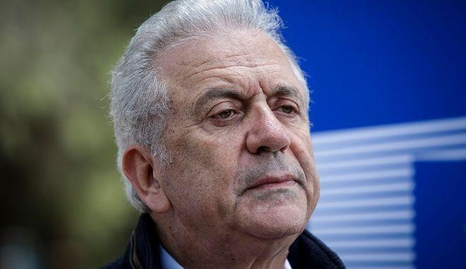 Ο Ευρωπαίος Επίτροπος Μετανάστευσης, Εσωτερικών Υποθέσεων και Ιθαγένειας Δημήτρης Αβραμόπουλος
