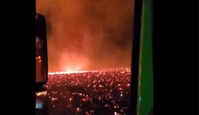 Καλιφόρνια: Σκηνές αποκάλυψης με τεράστιο ανεμοστρόβιλο φωτιάς