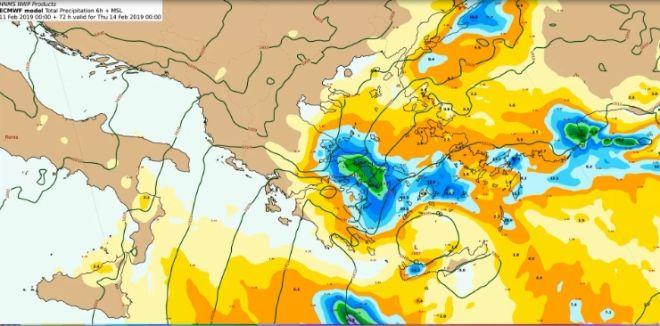 Ψυχρό μέτωπο την Τρίτη: Πού θα χιονίσει - Πτώση 10 βαθμών