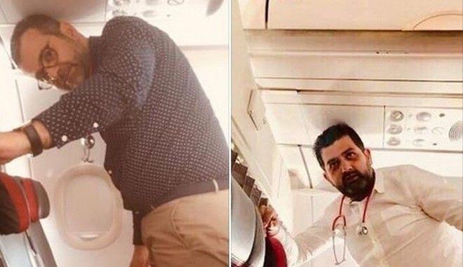 Ήρωες στον αέρα: Έλληνες καρδιολόγοι έσωσαν Ελβετίδα που έπαθε έμφραγμα στο αεροπλάνο